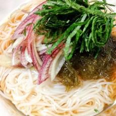 がごめ昆布のとぅるとぅるぶっかけ素麺