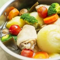 野菜と羅臼昆布でつくる減塩ポトフ