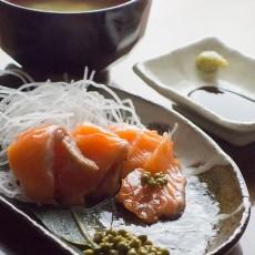 実山椒とサーモン
