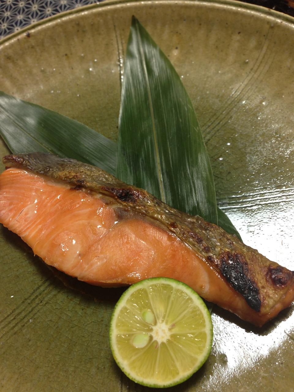生秋鮭の昆布締め焼き