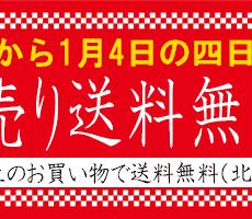 新春送料無料セール